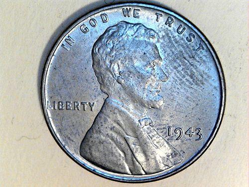 1943 P Steel Lincoln Wheat Cent---AU-UNC (price drop 6/10)