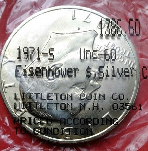 1971 S Eisenhower Dollars : Silver Clad 40% Silver Composition B-3