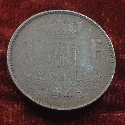 1943 Belgium 1 Franc