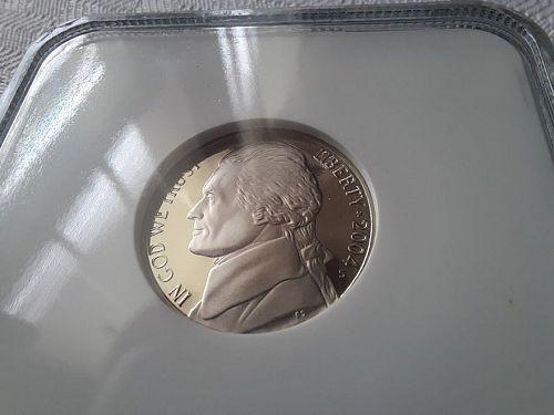 2004-S Keelboat and 2004-S Handshake Jefferson 5 cent NGC PR69UC $14.25 w/ free