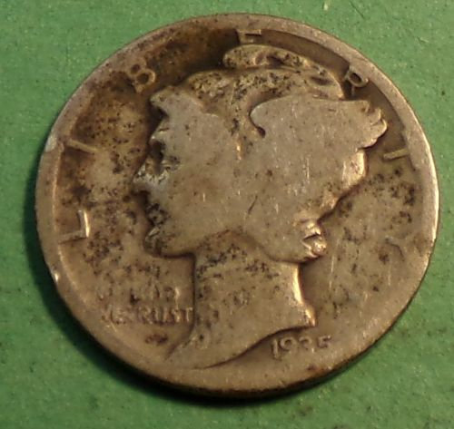 1935 P Mercury Dime