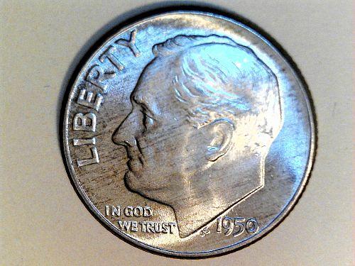 1950 P Roosevelt Dime--UNC-BETTER DATE