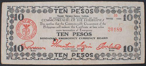 Philippines S527e 10 Pesos F-VF