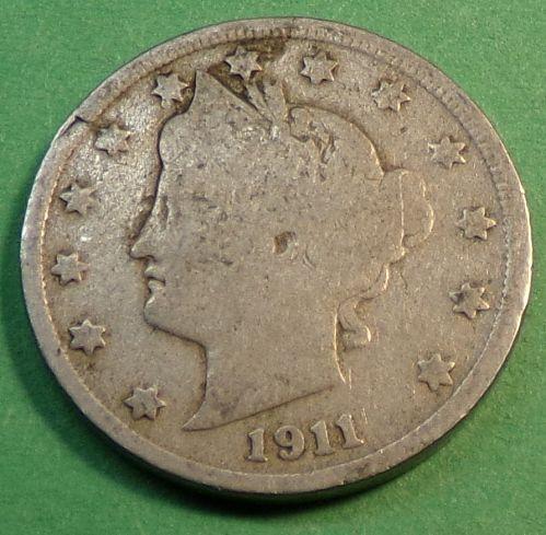 1911 P Liberty Head Nickel
