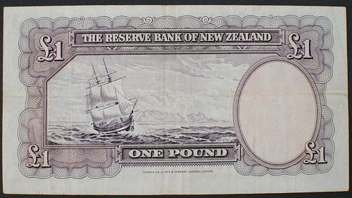 New Zealand P159a Pound F-VF