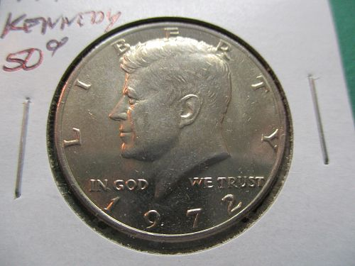 1972  Kennedy Half Dollar.  Item: 50 K72-03.