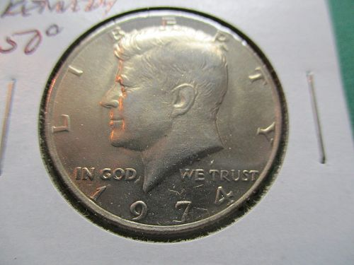 1974  Kennedy Half Dollar.  Item: 50 K74-03.