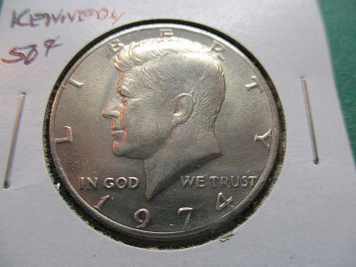 1974  Kennedy Half Dollar.  Item: 50 K74-04.