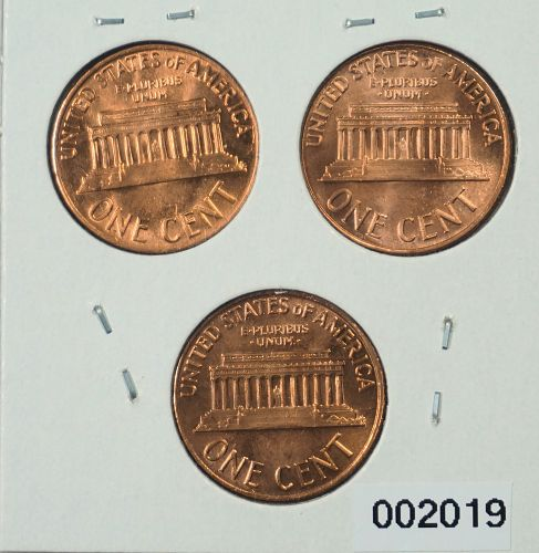 1968 P-D-S Lincoln Memorial Cents