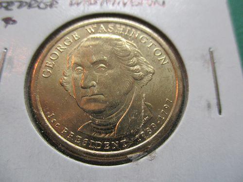 2007-D  George Washington Presidential Dollar.  Item: PD 07DGW-01.