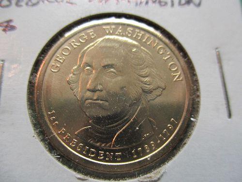 2007-D  George Washington Presidential Dollar.  Item: PD 07DGW-02.