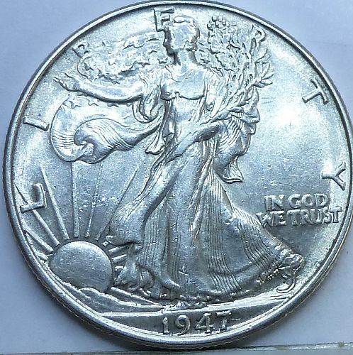1947 P Walking Liberty Half Dollar in About Uncirculated Grade ( 240-G )