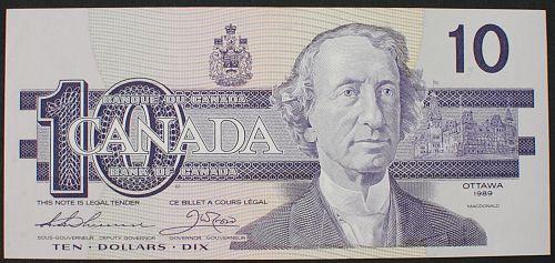 Canada P96a 10 Dollars AU