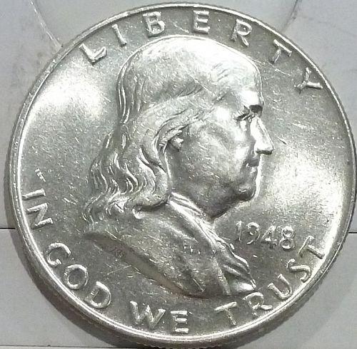 1948-P Gem BU Franklin Half Dollar With Full Bell Lines (440-A)