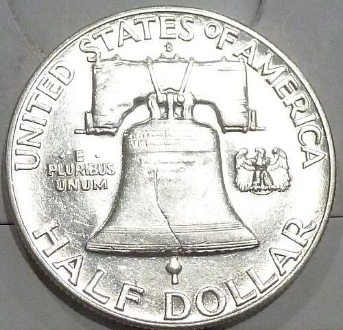 1949-D Gem BU Franklin Half Dollar With Full Bell Lines (440-D)