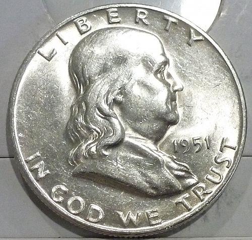 1951-S Gem BU Franklin Half Dollar With Full Bell Lines (440-J)