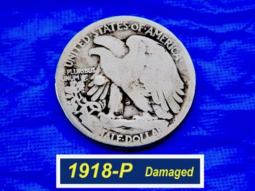 1918-P Walking Liberty Half  ⭐️  90% Silver   ⭐️  (1418)