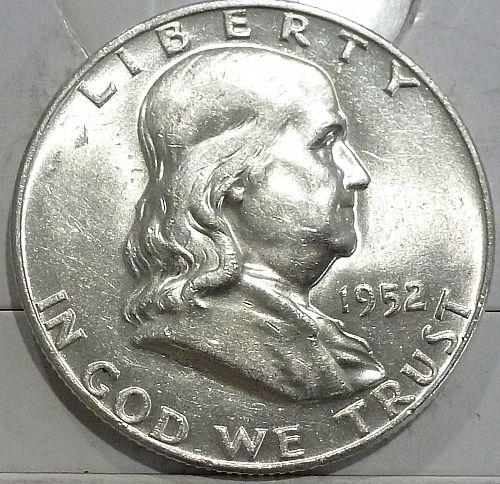 1952-D Gem BU Franklin Half Dollar With Full Bell Lines (440-L)