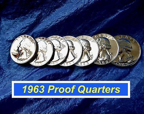 1963 Proof Washington's ⭐️ Very Minor Blemishes Proof ⭐️ (2686)