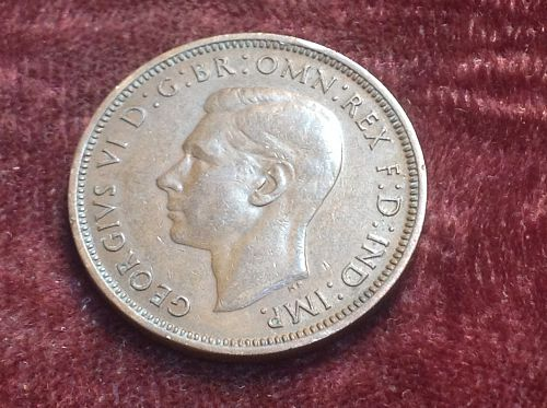 1937 Great Britain 1/2 Penny