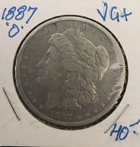 1887-O  Morgan Silver Dollar Very Good +
