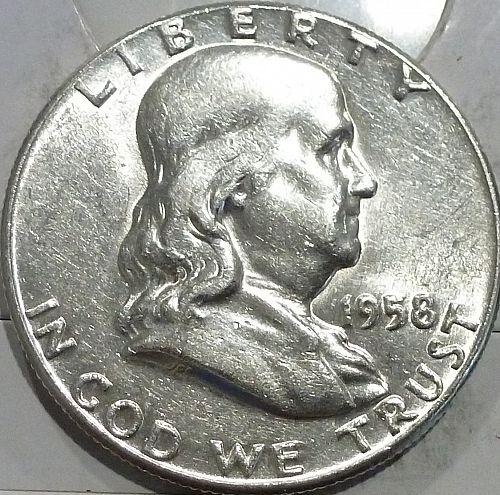 1958-P Gem BU Franklin Half Dollar  ( 440-X)