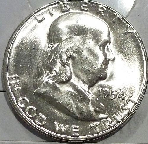 1954-S Gem BU Franklin Half Dollar  ( 440-S)
