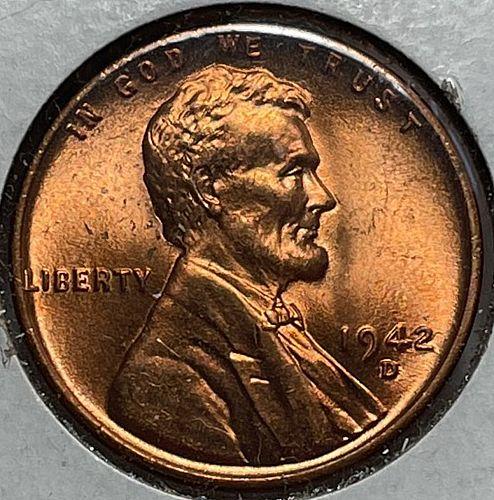 1942 D Lincoln Wheat Cent Bronze Composite Penny. 11354