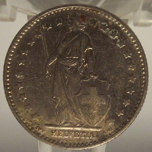 KM# 24a.1 1974 Swiss Franc AU Details #0089