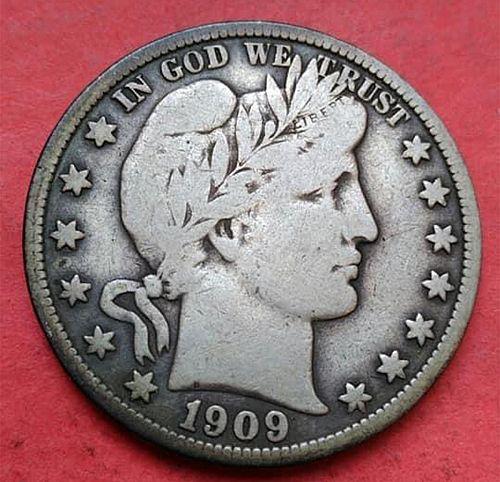 1909 S Barber Half Dollar. 11432