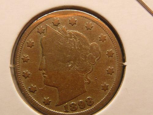 1898 P Liberty Nickels