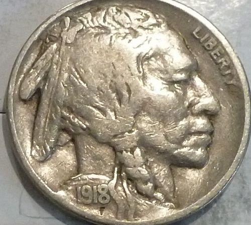 1918-P Buffalo Head Nickel Fine ( 2022 )