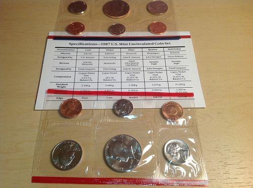 1987 P&D UNC Mint Set