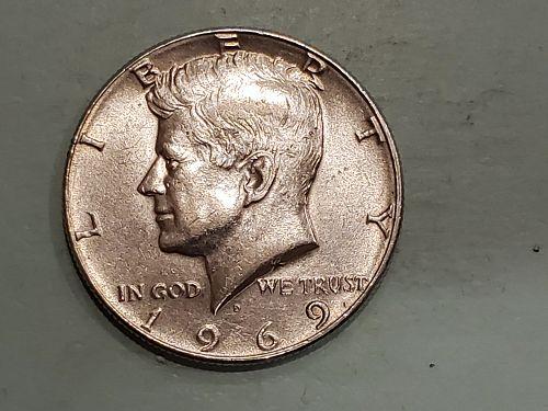 1969 Half Dollar