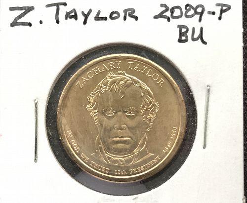 2009-P Uncirculated Presidential Dollar Coin---Zachary Taylor (0512-10)