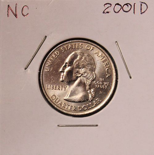 2001 D North Carolina 50 States and Territories Quarter