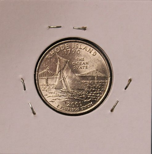 2001 D Rhode Island 50 States and Territories Quarter