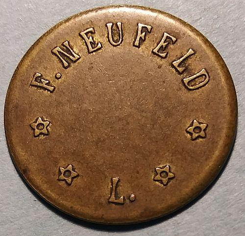 WW1 F. NUEFELD GERMAN BEER RATION TOKEN