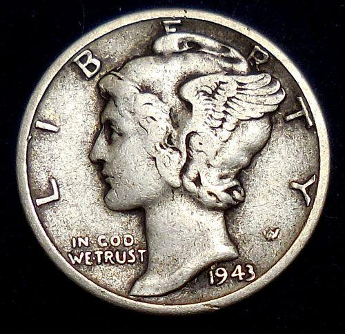 1943-P Mercury Dime