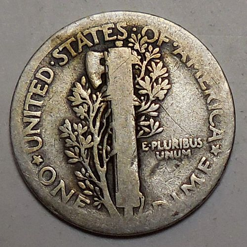 1918-P Mercury Dime