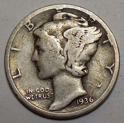 1936-P Mercury Dime