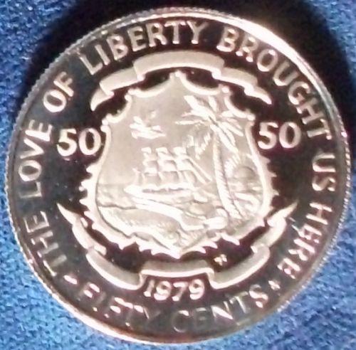 1979 Liberia 50 Cents Proof