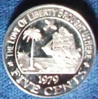 1979 Liberia 5 Cents Proof