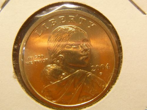 2004 P Sacagawea Dollar Golden Dollar