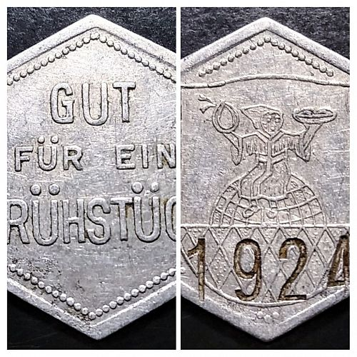 KULMBACH GERMANY - H&P SAUERMANN GOOD FOR ONE MEAL RATION TOKEN