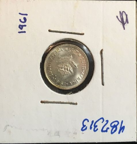 South Africa  2 1/2  CENTS  1961