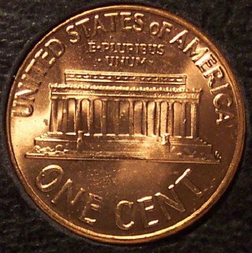 1959 Proof Lincoln Memorial Penny GEM BU #0353