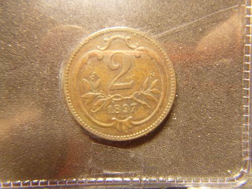 AUSTRIA 1897 2 Heller - Franz Joseph I