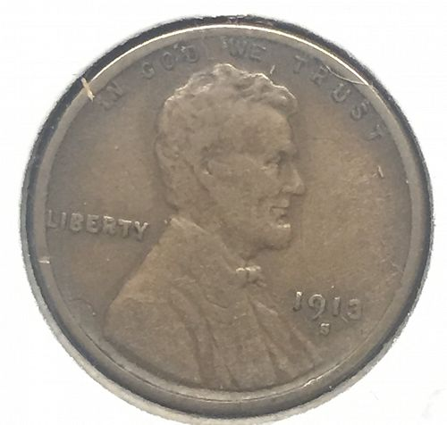 1913-S Lincoln Cent,  VF