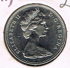 5 Cents - Elizabeth II, Confederation 1867-1967, Canada, 1967